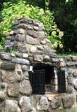 Barbecue di pietra esterno Fotografie Stock