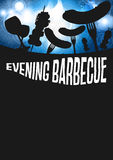Barbecue di sera Fotografie Stock Libere da Diritti