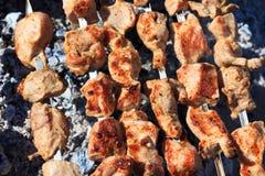 Barbecue di Shashlik Fotografia Stock Libera da Diritti