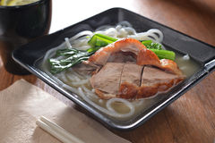 Barbecue Duck noodle Stock Image