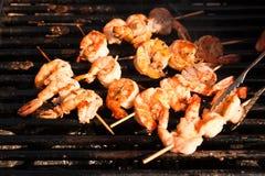 Barbecue enorme de crevette de type coréen photo stock
