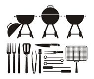 Barbecue equipment - pictogram Stock Image