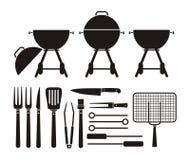 Barbecue equipment - pictogram Stock Image