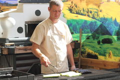 Barbecue et légumes grillés photos libres de droits