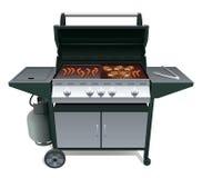 Barbecue et viande Photos stock