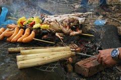 Barbecue extérieur photographie stock