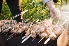Barbecue extérieur en été photographie stock