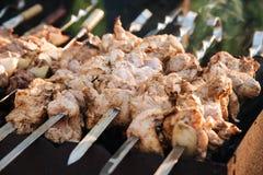 Barbecue extérieur en été photo stock
