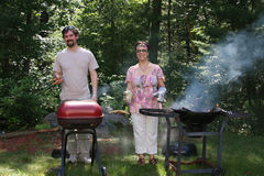 Barbecue Family Stock Images