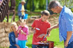 Barbecue with family Stock Image