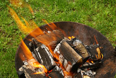 Barbecue fire Royalty Free Stock Image