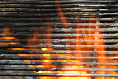 Barbecue fire Stock Photos