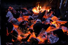 Barbecue fire Stock Photo