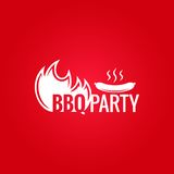 Barbecue Fire Design Background Royalty Free Stock Photography