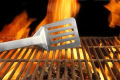 Barbecue  Fire Flame Hot Grill Spatula, XXXL Royalty Free Stock Photos