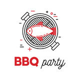 Barbecue fish Royalty Free Stock Photos