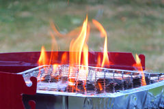 Barbecue Flames Royalty Free Stock Images