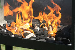 Barbecue flames i Stock Photos