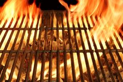 Barbecue Flaming Grill Close-up Background Stock Image