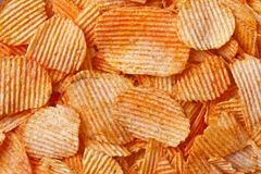 Barbecue flavored potato chips Royalty Free Stock Photography