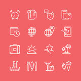 Barbecue and Food Icons Vector Objects set Stock Photography