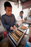 Barbecue food sell on Lijiang Dayan Old town . Stock Image
