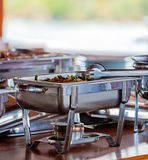 Barbecue Food on Table of Safari Yacht Royalty Free Stock Photography