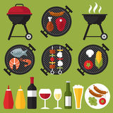 Barbecue food Stock Images
