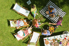 Barbecue with friends Stock Photography