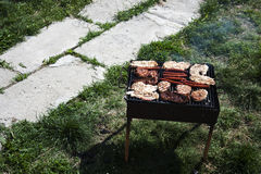 Barbecue in the garden Royalty Free Stock Photography