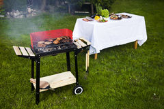 Barbecue in the garden Stock Image