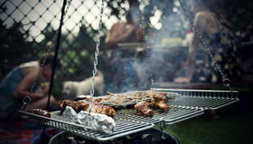 Barbecue in the garden Royalty Free Stock Image
