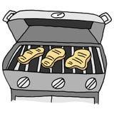 Barbecue geroosterde kippenborsten Royalty-vrije Stock Afbeelding
