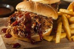 Barbecue Getrokken Varkensvleessandwich Royalty-vrije Stock Afbeelding