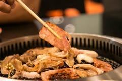 Barbecue giapponese Fotografie Stock Libere da Diritti