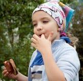Barbecue Girl Stock Photo