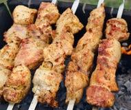 Barbecue géorgien de Shashlik (kebab de shish) Photos stock