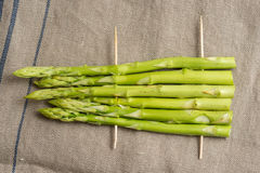 Barbecue green asparagus Royalty Free Stock Photo