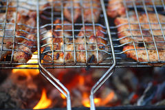 Barbecue Grill. Picture originated with the preparation of the Barbecue Grill Stock Photography