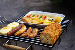 Barbecue Grill. Food on the barbecue grill Stock Photo