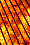 Barbecue Grill And Fire Hot Coals Background Stock Image