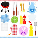 Barbecue / Grill (BBQ) theme Royalty Free Stock Photography