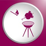 Grilled chicken icon Royalty Free Stock Photo