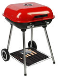 Barbecue grill. Clipping path. Barbecue grill equipment isolated over white Royalty Free Stock Photography