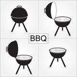 Barbecue grill with cover isolated on white background. BBQ icons set. Vector illustration. Barbecue grill with cover isolated on white background. BBQ icons vector illustration