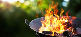Free Barbecue Grill. Fire Flame Stock Photography - 145334272