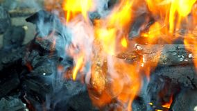 Barbecue Grill Flame Fire Charcoal BBQ Background. Fire wood charcoal for barbecue royalty free stock photo