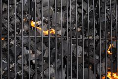 Barbecue grill grate. BBQ, fire, charcoal royalty free stock image