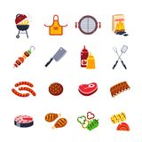 Barbecue And Grill Icon Set Stock Image