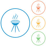 Barbecue grill icon Stock Images